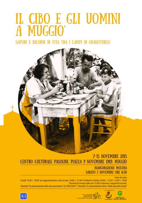 Manifesto Mostra Il cibo e gli uomini a Muggiò