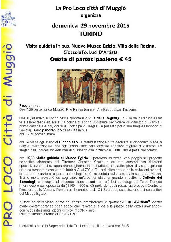 Gita Torino Museo Egizio