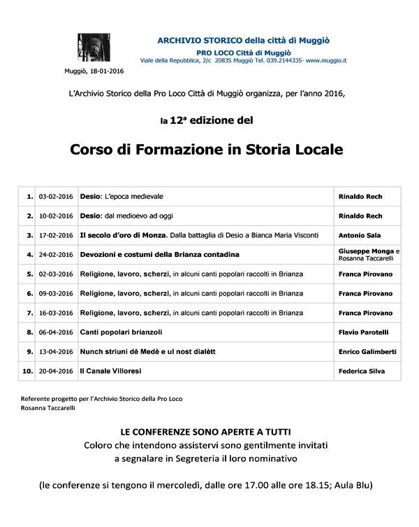 12° Corso Formazione Storia locale - 2016 600