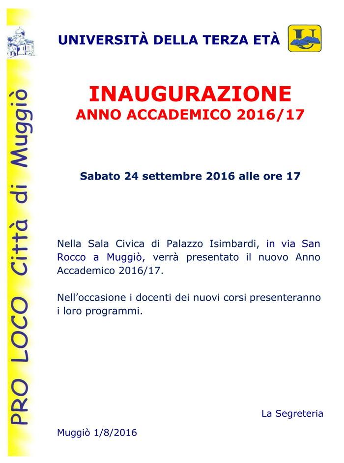 Inaugurazione Anno Accademico 2016/17