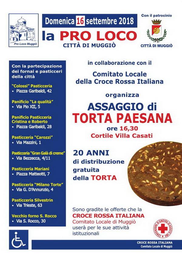 Volantino 2018 torta paesana - 600+