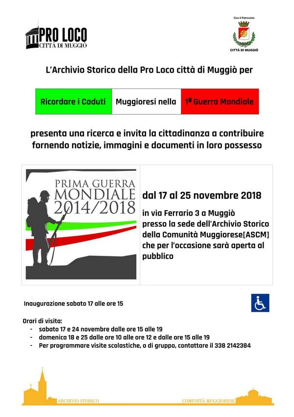 Locandina Evento Caduti Muggioresi 1ª GM_01