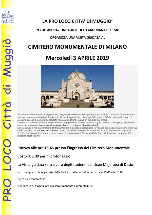 visita al Cimitero  Monumentale- sito