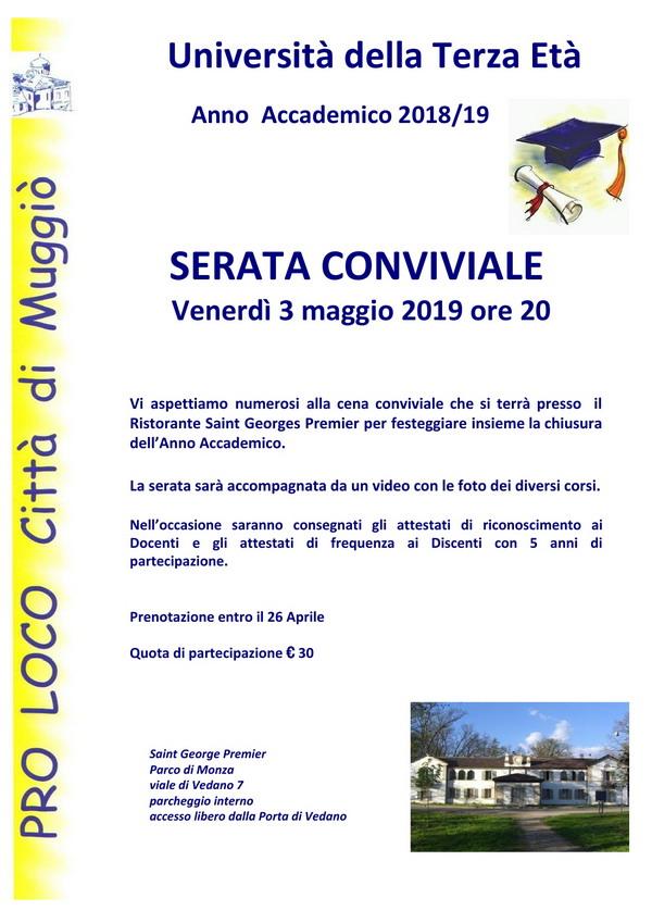 Volantino Serata conviviale 2018-19 - 600