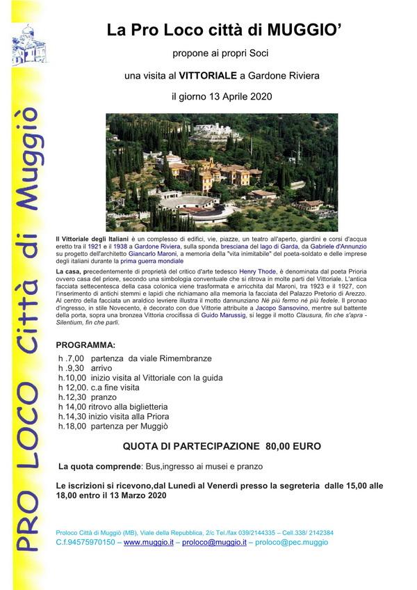 Gita di Pasquetta: Visita al Vittoriale e Gardone Riviera